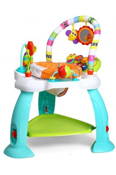 Jumper cu activitati MalPlay pentru bebelusi cu pian,arcada cu jucarii,sunete si lumini