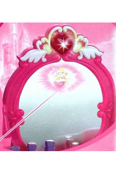 Masuta de machiaj MalPlay cu oglinda si taburet lumini, sunete si accesorii