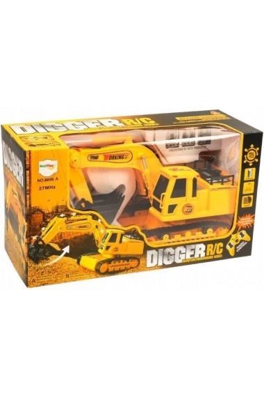 Excavator MalPlay pentru baieti cu telecomanda ,sunete si lumini