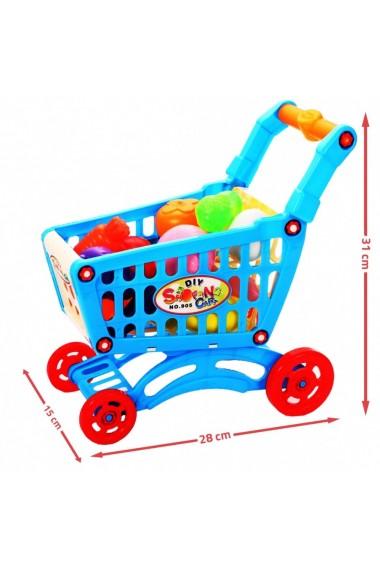 Carucior pentru cumparaturi MalPlay cu accesorii incluse Albastru