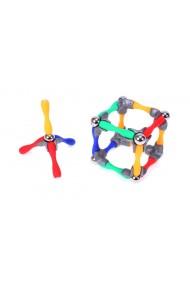 Set de constructie MalPlay Piese magnetice 84 elemente multicolore