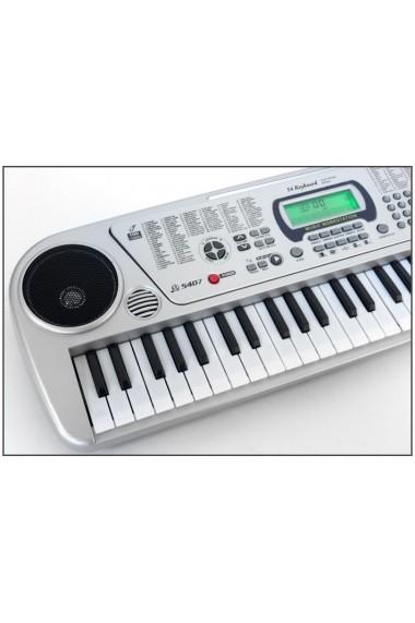 Orga electronica multifunctionala MalPlay cu 54 clape ,afisaj LCD,100 de tonuri si ritmuri instrumentale pentru copii