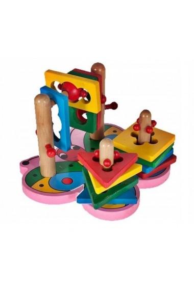 Jucarie de indemanare MalPlay puzzle sortator 3D din lemn
