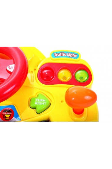 Jucarie interactiva MalPlay Micul sofer volan cu pian sunete si lumini pentru copii