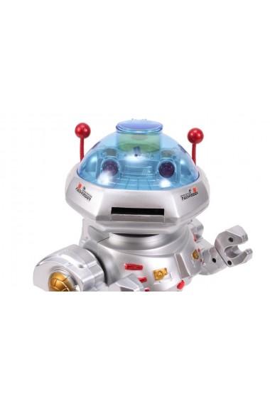 Jucarie interactiva MalPlay Super Robot cu sunete si lumini care merge si arunca cu discuri 30 cm