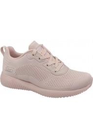 Pantofi sport casual pentru femei Skechers Bobs Squad 32504-PNK