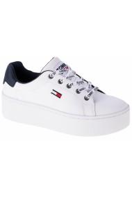 Pantofi sport casual pentru femei Tommy Hilfiger Iconic Leather Flatform EN0EN01113-YBR