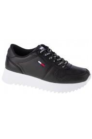 Pantofi sport casual pentru femei Tommy Hilfiger High Cleated Leather EN0EN01120-BDS