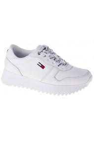 Pantofi sport casual pentru femei Tommy Hilfiger High Cleated Leather EN0EN01120-YBR