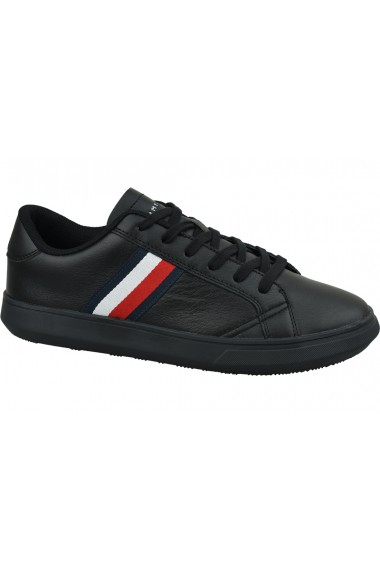 Pantofi sport pentru barbati Tommy Hilfiger Essential Leather Cupsole FM0FM02388-BDS