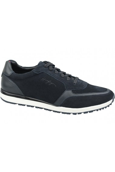 Pantofi sport pentru barbati Tommy Hilfiger Premium Suede Runner FM0FM02551-CKI