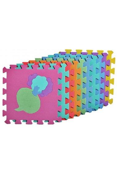 Covor puzzle din spuma MalPlay 10 piese 29 x 29 cm