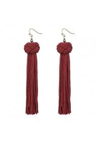 Cercei rosii din textil APT for YOU