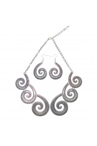 Set cercei si colier elegant Silver Infinity APT for YOU