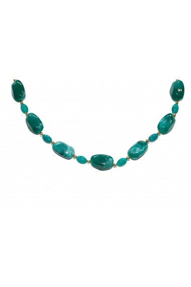 Set cercei si colier Resin Stone verde APT for YOU