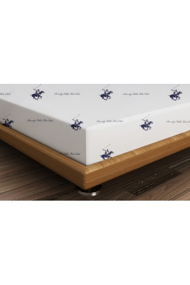 Cearsaf pentru pat single Beverly Hills Polo Club ASR-176BHP1104 Albastru - els
