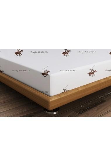 Cearsaf pentru pat single Beverly Hills Polo Club ASR-176BHP1109 Maro