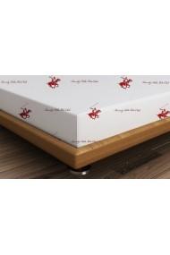 Cearsaf pentru pat dublu Beverly Hills Polo Club ASR-176BHP1203 Alb