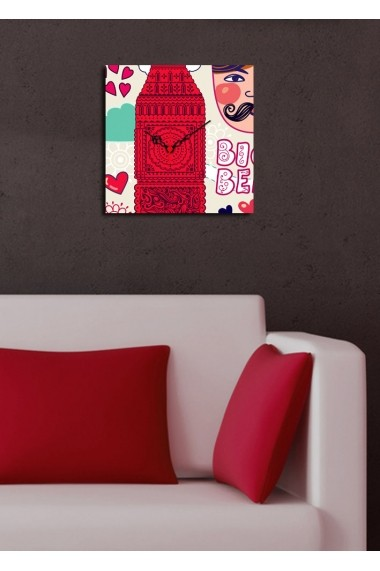 Ceas decorativ de perete Clock Art 228CLA1608 Multicolor