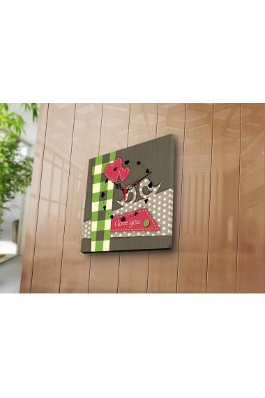 Ceas decorativ de perete Clock Art 228CLA1619 Multicolor