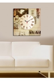 Ceas decorativ de perete Clock Art 228CLA1663 Multicolor