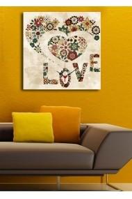 Ceas decorativ de perete Clock Art 228CLA1666 Multicolor