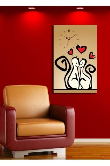 Ceas decorativ de perete Clock Art 228CLA1689 Multicolor