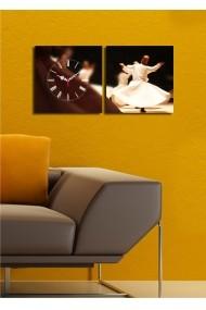 Ceas decorativ de perete(2 articole) Clock Art 228CLA2604 Multicolor