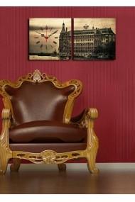 Ceas decorativ de perete(2 articole) Clock Art 228CLA2605 Multicolor