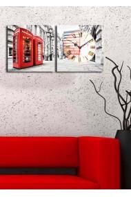 Ceas decorativ de perete(2 articole) Clock Art 228CLA2607 Multicolor