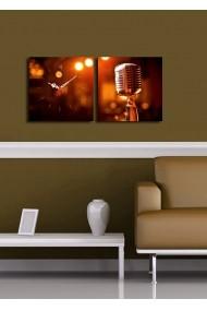 Ceas decorativ de perete(2 articole) Clock Art 228CLA2609 Multicolor