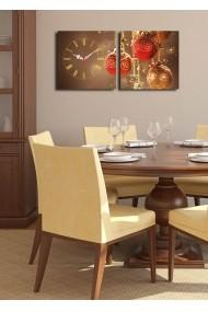 Ceas decorativ de perete(2 articole) Clock Art 228CLA2613 Multicolor
