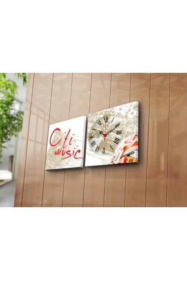 Ceas decorativ de perete(2 articole) Clock Art 228CLA2614 Multicolor