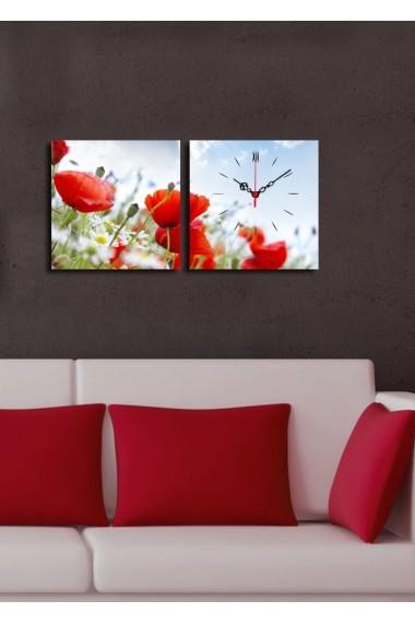 Ceas decorativ de perete(2 articole) Clock Art 228CLA2615 Multicolor
