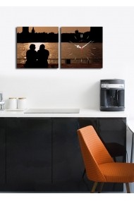 Ceas decorativ de perete(2 articole) Clock Art 228CLA2616 Multicolor