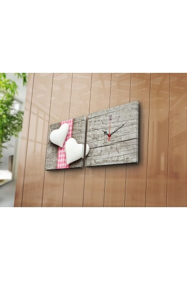 Ceas decorativ de perete(2 articole) Clock Art 228CLA2618 Multicolor