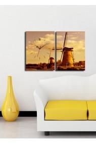 Ceas decorativ de perete(2 articole) Clock Art 228CLA2623 Multicolor