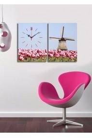 Ceas decorativ de perete(2 articole) Clock Art 228CLA2627 Multicolor