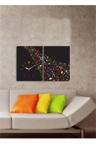 Ceas decorativ de perete(2 articole) Clock Art 228CLA2628 Multicolor