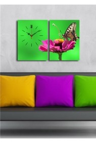 Ceas decorativ de perete(2 articole) Clock Art 228CLA2631 Multicolor