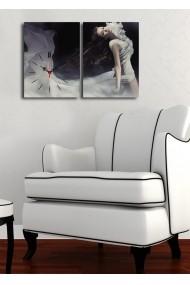 Ceas decorativ de perete(2 articole) Clock Art 228CLA2634 Multicolor