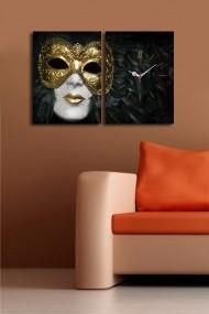 Ceas decorativ de perete(2 articole) Clock Art 228CLA2635 Multicolor