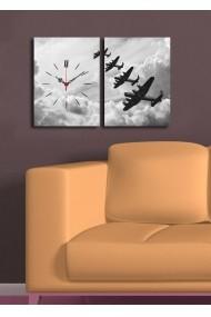 Ceas decorativ de perete(2 articole) Clock Art 228CLA2638 Multicolor
