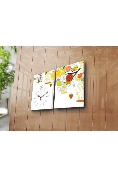 Ceas decorativ de perete(2 articole) Clock Art 228CLA2639 Multicolor