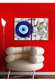 Ceas decorativ de perete(2 articole) Clock Art 228CLA2650 Multicolor