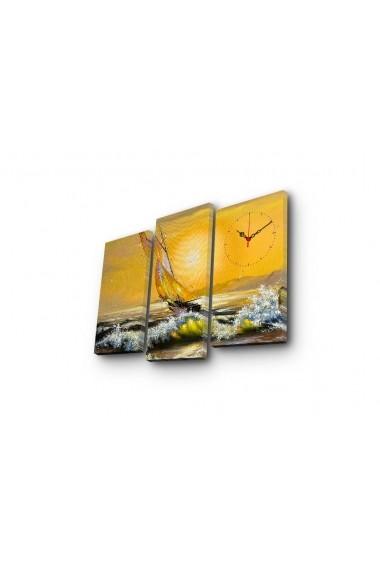 Ceas decorativ de perete(3 articole) Clock Art 228CLA2651 Multicolor