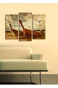 Ceas decorativ de perete(3 articole) Clock Art 228CLA2654 Multicolor