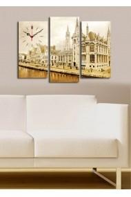 Ceas decorativ de perete(3 articole) Clock Art 228CLA2656 Multicolor