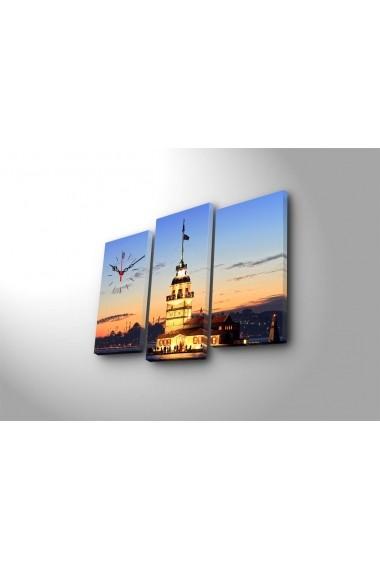 Ceas decorativ de perete(3 articole) Clock Art 228CLA2660 Multicolor
