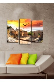 Ceas decorativ de perete(3 articole) Clock Art 228CLA2664 Multicolor